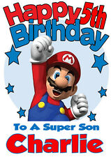 Personalised Birthday Card 2 'SUPER MARIO'  ANY NAME,AGE,RELATVE