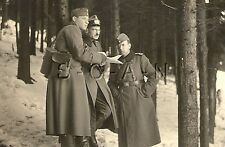 WWII German RP- Army - Soldier- Officer- Map Case- Reads Map- Searching- 1940s