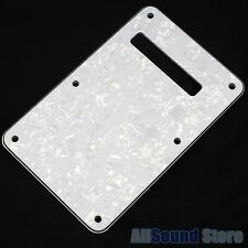 NEW- WHITE PEARLOID 3-Ply Back Plate Tremolo Cover for Fender Stratocaster Strat