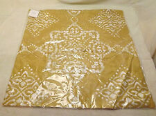 "NWT Pottery Barn GOLD Linden Medallion Pillow Cover 24"" x 24"""