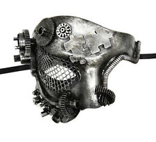 Steampunk Phantom Half Face Silver Masquerade Mask Prom Party Venetian Mask