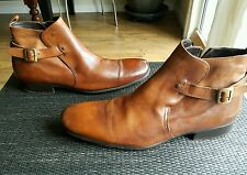 Authentic To Boot New York Side Zip Boots 12 Map on Sole