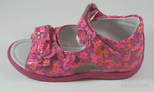 Noel Girls Mini Ding Pink Floral Leather Sandals Velcro Straps UK 5 EU 21 US 5.5