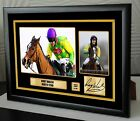 "Ruby Walsh Kauto Star Limited Edition Framed Canvas Print Signed ""Great Gift"""