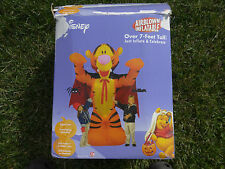 Airblown Inflatable Halloween Disney 7' Winnie The Pooh Tigger Vampire Dracula