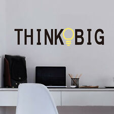 New Think Big Quote Wall Stickers Inspirational Removable Art Vinyl Home Decal
