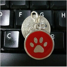 Cute Dog Paw Style Metal Dog Name Tag Dogs Cats Pets Accessory Identity ID Card