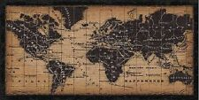 Pela Studio: Old World Map Fertig-Bild 50x100 Wandbild Weltkarte antik