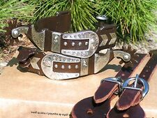 Cowboy Western Men's boot spurs WITH Leather Straps