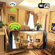 Spy Smoke Detector WiFi Wireless IP Camera Hidden Cam UFO P2P 2015promotion