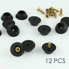 12 pcs screw on rubber bumper chair glide floor protector black