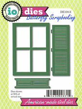 Window Shutter Set American Made Steel Dies by Impression Obsession DIE104-X New