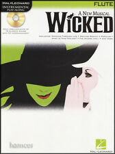 Wicked A New Musical for Flute Sheet Music Book & Play-Along Backing Tracks CD