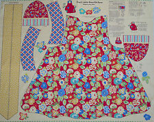 Penny Rose Patchworkstoff Panel SCHÜRZE, Serie Church Ladies by Mary Mulari