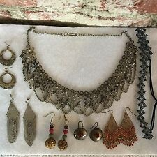 Cool Gypsy Bib Collar Necklace Boho Chic Earrings & More!!