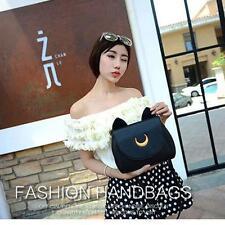 Moon Girl Cosplay Leather Handbag Shoulder Messenger Student Bag Luna Cat BK@