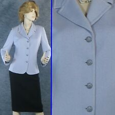 STUNNING! ST JOHN EVENING SANTANA KNIT LIGHT LAVENDER JACKET SZ 12 14