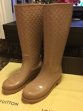 NEW! Authentic LOUIS VUITTON Splash RAIN BOOTS Rubber LV Logo