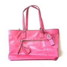 NEW $428 Marc Jacobs Womens Bright Lipstick Pink Leather Handbag Purse AUTHENTIC
