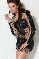 171300 Jovani Black Long Sleeve Party Evening Formal Prom Gown Dress Size USA 6