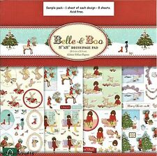 DOVECRAFT 8 X 8 DIE CUT DECOUPAGE SAMPLE PACK  BELLE & BOO CHRISTMAS - 8 SHEETS