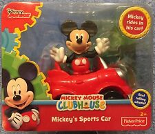 Disney Mickey Mouse Mickey's Sports Car & Figure Pack Free Ship New Fisher Price