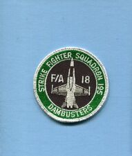 VFA-195 DAMBUSTERS US NAVY BOEING F-18 HORNET Fighter Squadron Bullet Patch