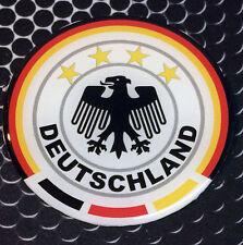 "Germany Deutschland Crest Proud Domed Decal car Emblem Flexible 3D 2.5"" Round"