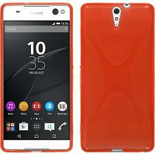 Coque en Silicone Sony Xperia C5 Ultra - X-Style rouge + films de protection