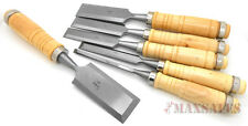 6pc WOOD CHISEL Carving Knife Cutter Steel Blades Chisels Woodworkers Set