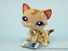 Littlest Pet Shop Accessories LPS Custom Gold Angel Wing Cloths Halo Outfit #70