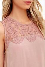 Women Chiffon Lace Sleeveless Shirt Loose Fashion Blouse Casual Tank Tops Vest