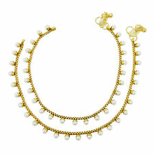Ethnic Indian Gold Plated Ankle Bracelet Foot Chain Women Traditional Jewelry