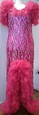 XL Drag Queen /costume/sequin stage long Dress UK size stretchy 20/22