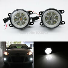 18W High Power 6-LED Fog Light Lamps w/ Halo Rings Fit Acura Honda Ford Subaru..