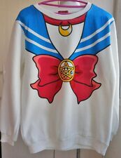 Sailor moon harajuku sweater fake faux top cute kawaii cosplay Japan anime white