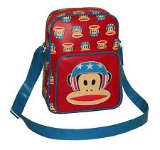 PAUL FRANK - JULIUS MONKEY EVIL KNIEVEL USA-FLIGHT/MESSENGER/X BODY BAG-RED/BLUE