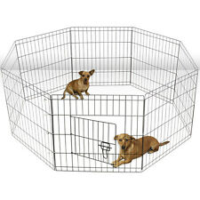 "OxGord 36"" Tall Wire Fence Pet Dog Folding Exercise Yard 8 Panel Metal Play"