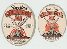 Beer Labels: 2 x Beverley Brothers,, Wakefield, 50s 60s issues