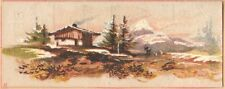 Victorian Trade Card-Bedell Clothing-New York-Mountain Cabin