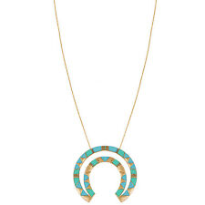 "NEW HOUSE OF HARLOW 1960 Gold/Turquoise ""NELLI"" Pendant Necklace -SALE"