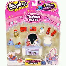 Shopkins Season 3 Fashion Spree Best Dressed Collection 8 pack