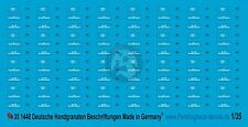 Peddinghaus 1/35 German Hand Grenade Markings WWII [Water slide Decal] 1448