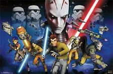 STAR WARS REBELS GROUP POSTER NEW 22x34 FREE SHIPPING