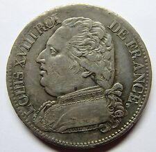 Très belle monnaie - 5 Francs Louis XVIII - 1814 D - Lyon - RARE -