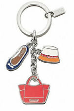 NEW Coach 65743 Purse Hat Shoe Charms Key Ring Key Fob