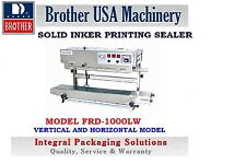 CONTINUOUS SOLID INKER PRINTING SEALER BROTHER FRD1000LW- STAINLESS STEEL -110V