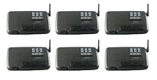 6 channel 6 station home office wireless FM voice intercom system Charcoal black