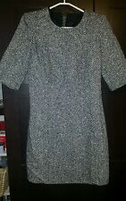 Gorgeous Womens Sisley Black & White Wool Blend Dress - Size M 10