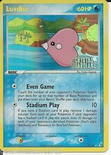 Pokemon Card Luvdisc HOLO 7/100 EX Crystal Guardians Gold Letter Silver Star! NM